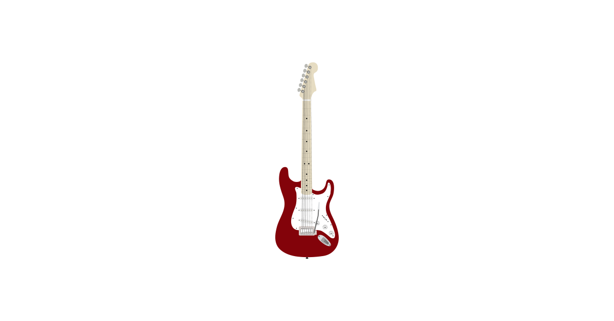 Fender stratocaster and files. Guitar vector png