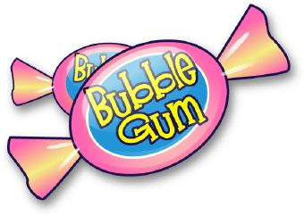 Gummy clip art illustration. Gum clipart