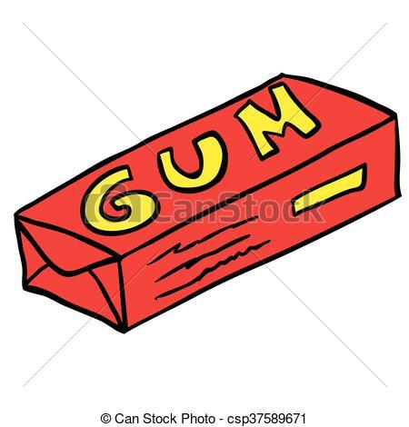 Pack of cartoon illustration. Gum clipart