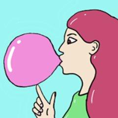 Babblegumncl twitter . Gum clipart babble
