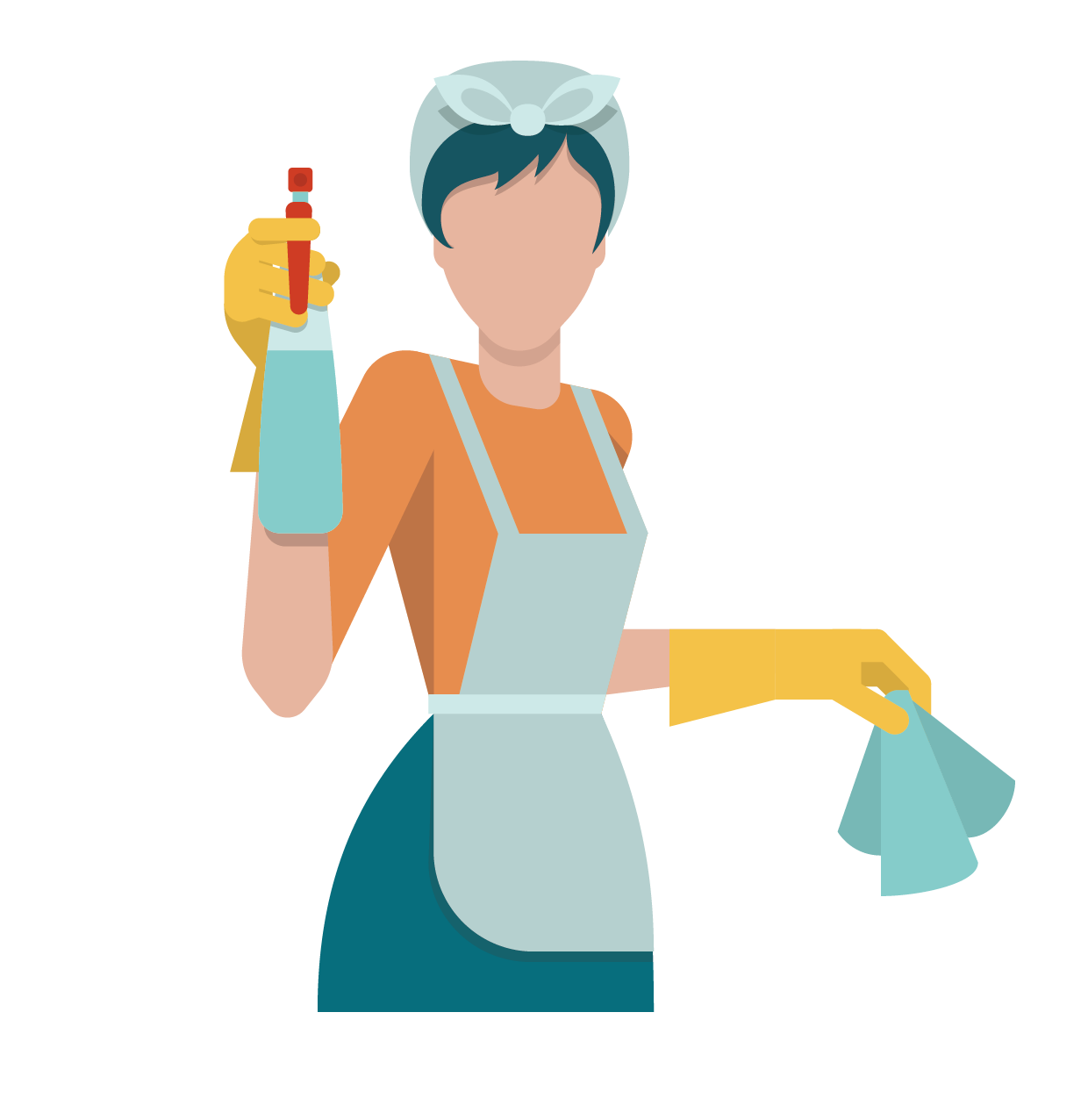 Cleaning icon flat kitchen. Gum clipart blue pack