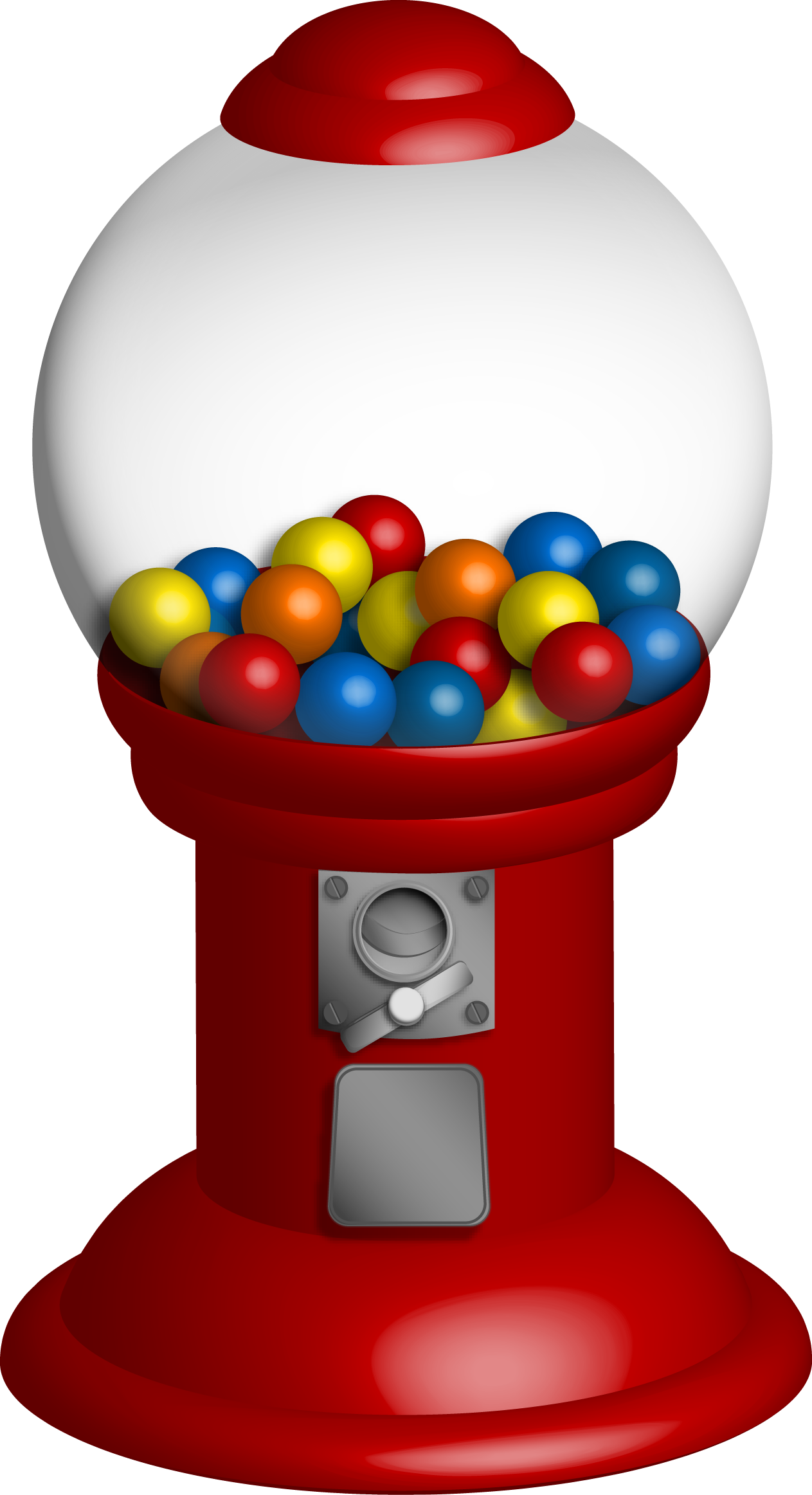collection of gumball. Gum clipart candy machine