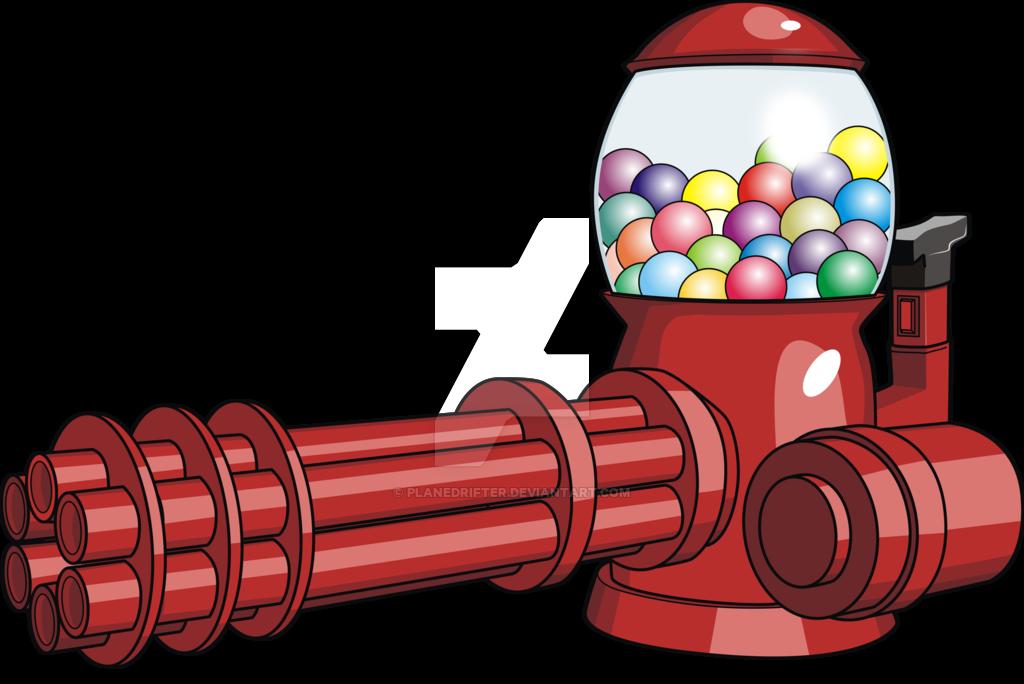 Gum clipart candy machine. Gun by planedrifter on