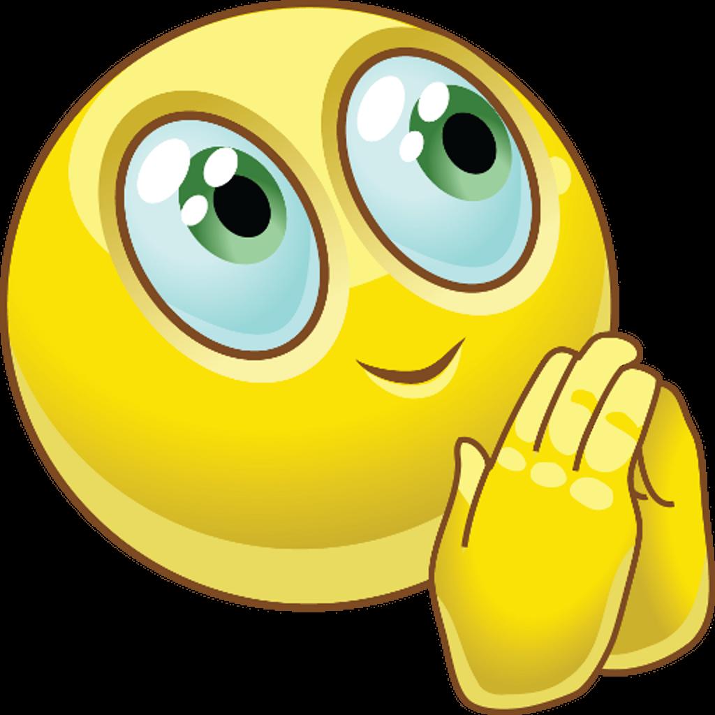Praying hands prayer smiley. Gum clipart emoji