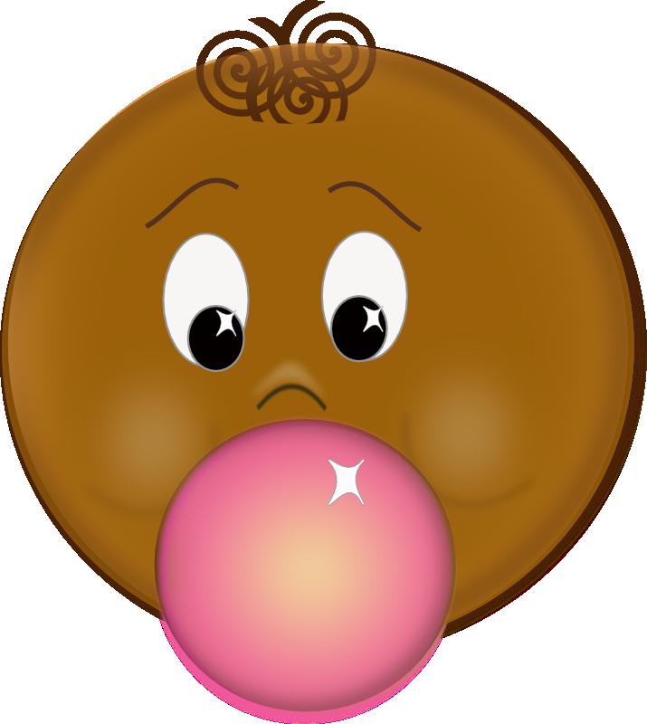 gum clipart popped bubble