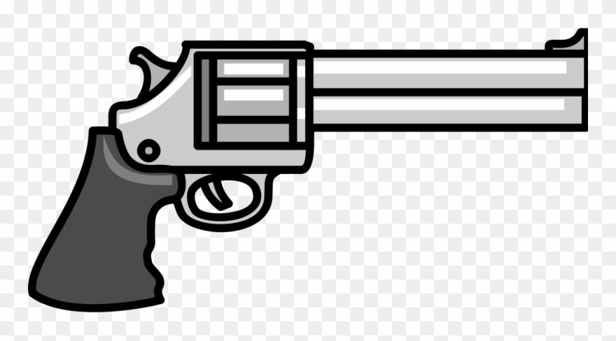 Clipart gun revolver. Pistol firearm handgun weapon