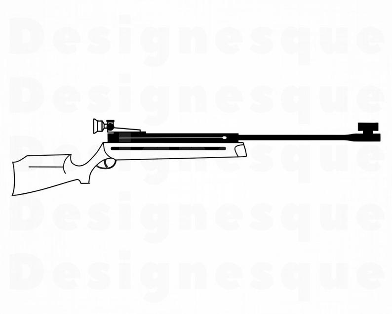 Gun clipart air rifle. Svg files for cricut