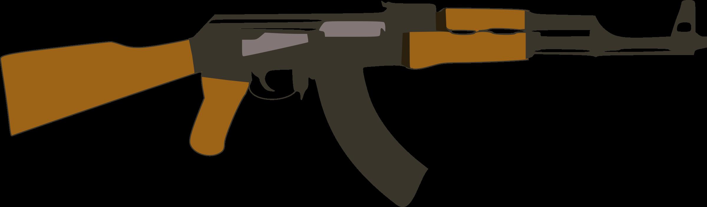 Ak big image png. Gun clipart ak47