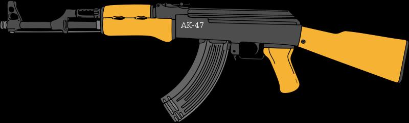 Ak transparent png images. Gun clipart ak47