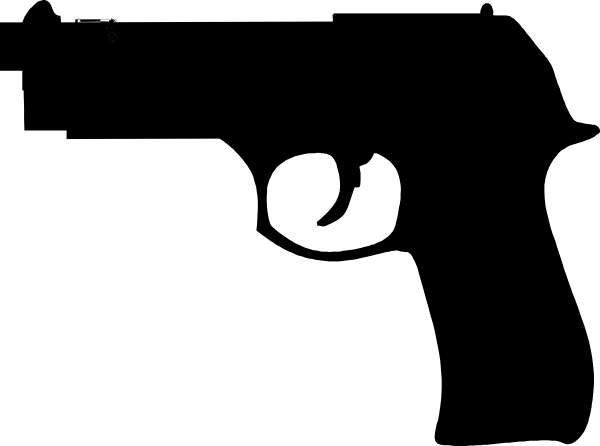 Black gun clip art. Pistol clipart rifle