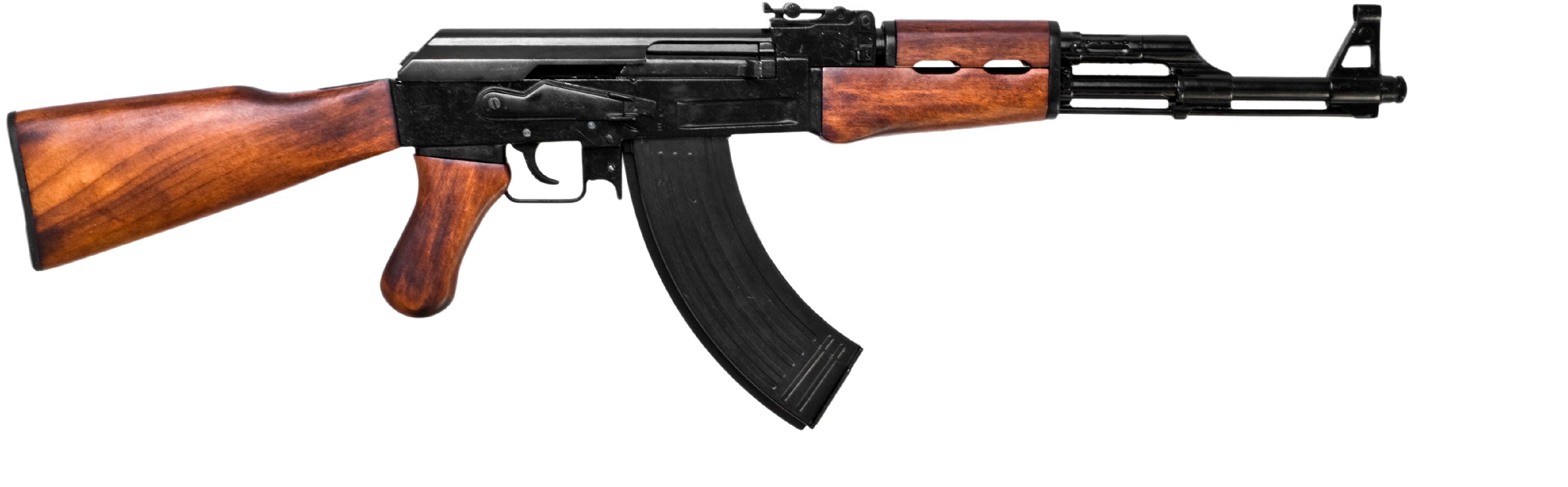 Guns clipart transparent background. Wooden assault rifle png
