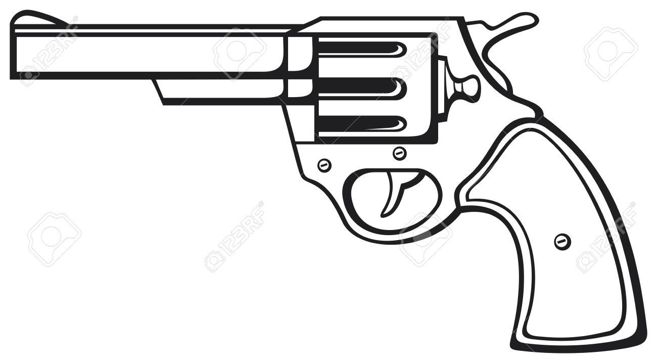 Gun clipart black and white. Free download best