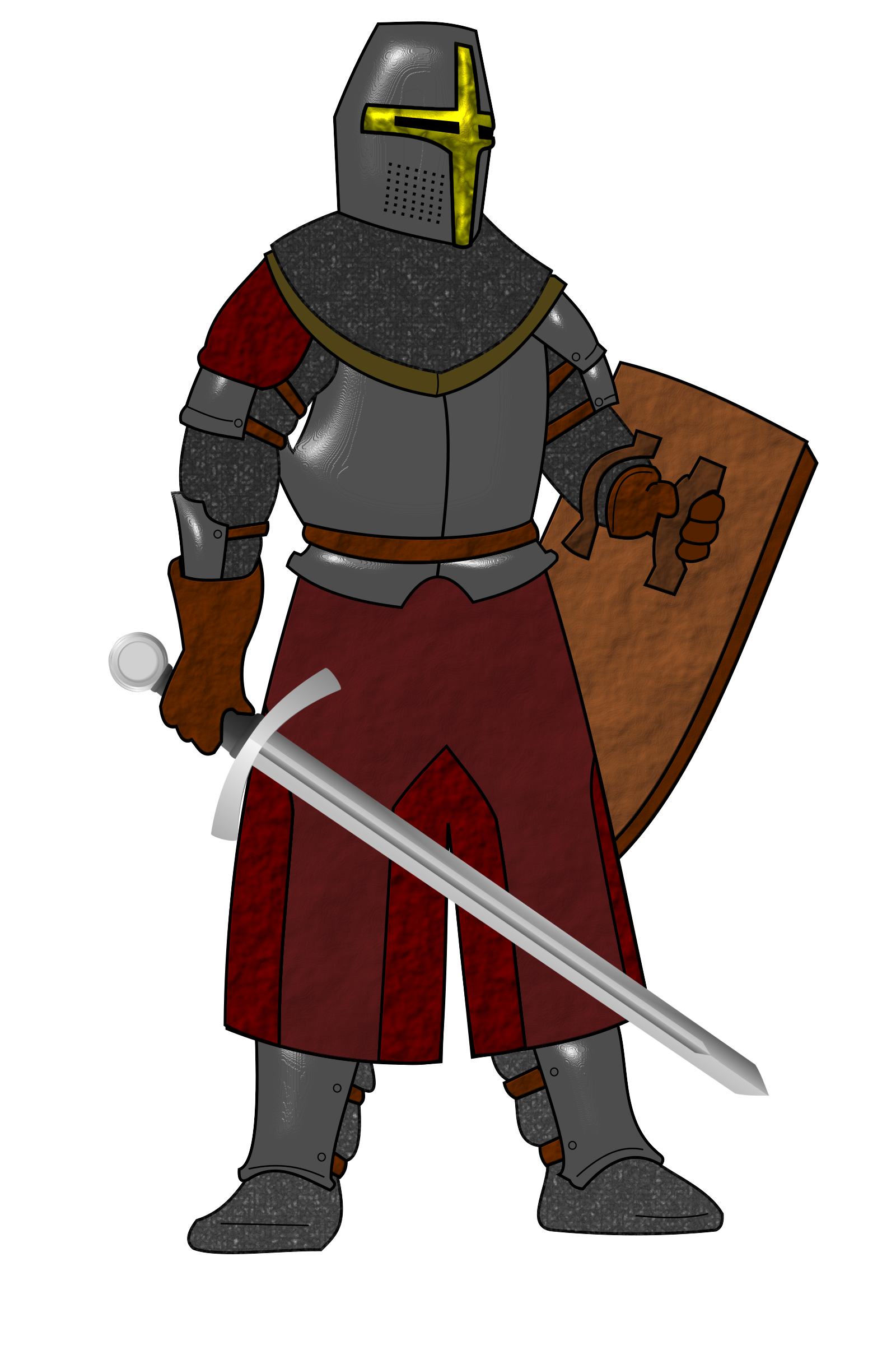 Steel plate armor big. Maid clipart icon