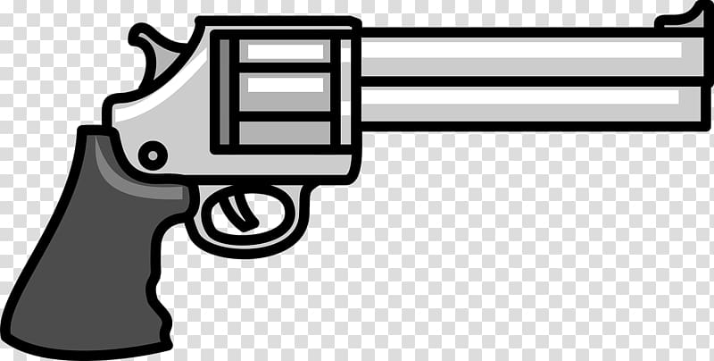 Firearm pistol cartoon transparent. Gun clipart hand gun