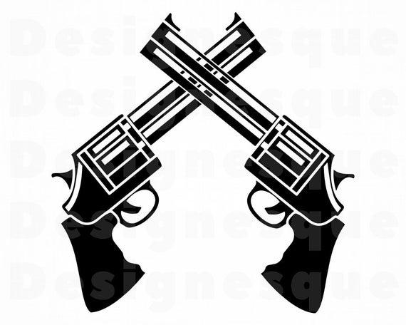 Gun clipart logo. Svg revolver pistol weapon