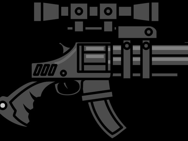 Shotgun big frames illustrations. Gun clipart logo