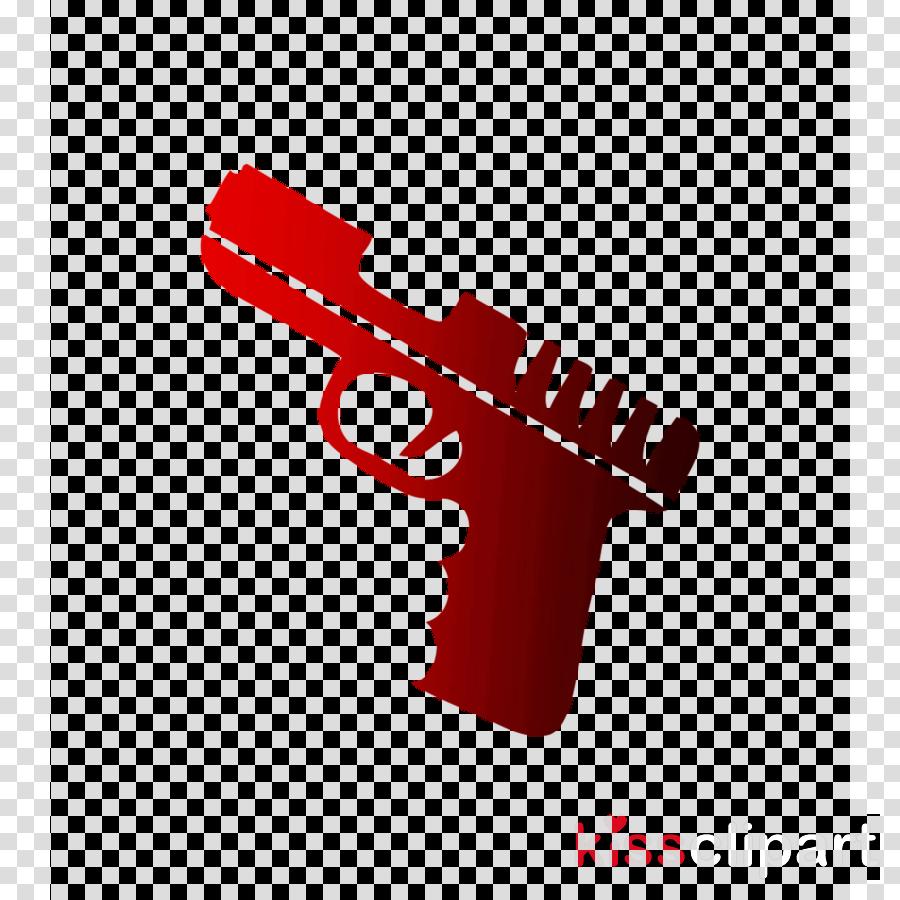 Gun clipart logo. Cartoon product illustration