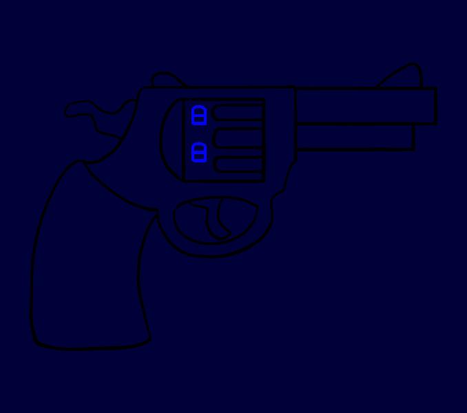 Guns clipart person.  collection of revolver
