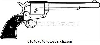 Pistol clipart peacemaker colt. Pin on painting
