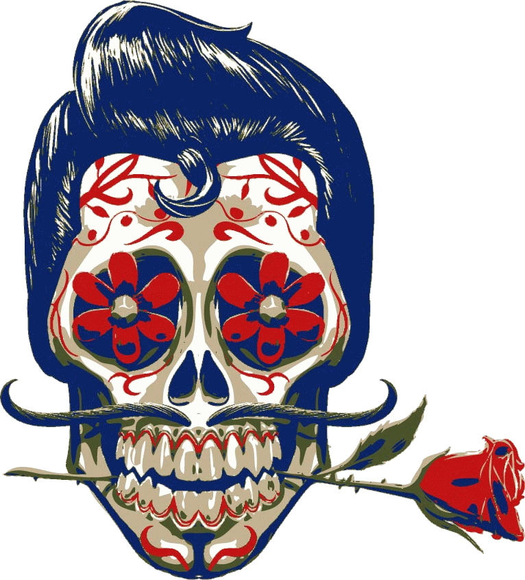 Skull wear by gilvany. Skeleton clipart art mexican