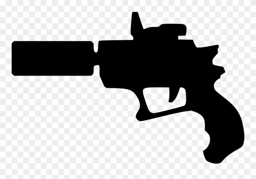 Transparent library futuristic pistol. Gun clipart svg