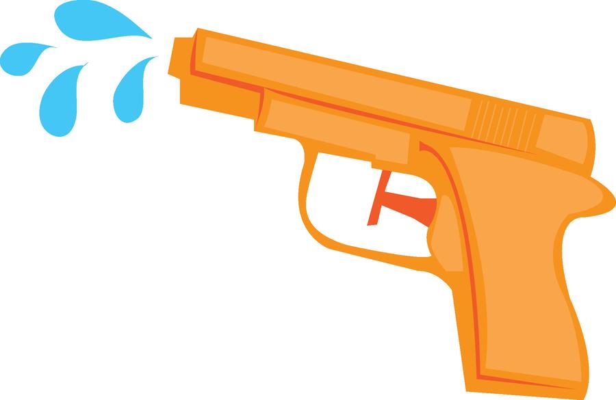 Gun clipart water gun. Orange product line font
