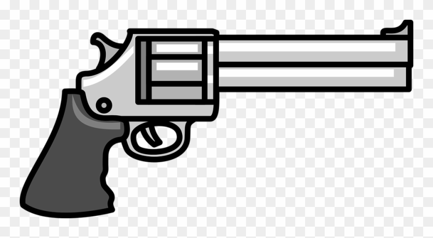Clipart gun black and white. Guns cartoon png download