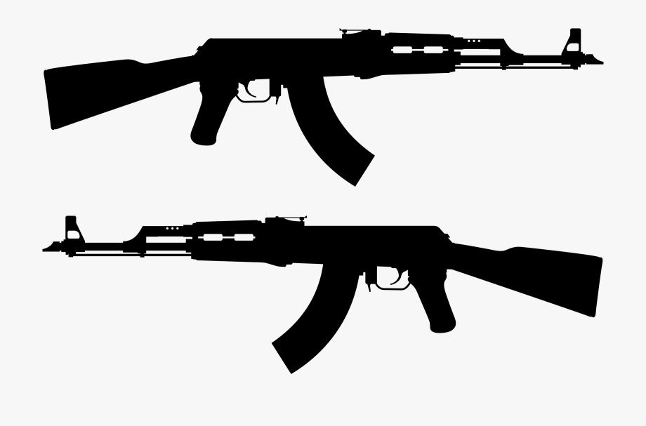 Good free cliparts firearms. Guns clipart ak47