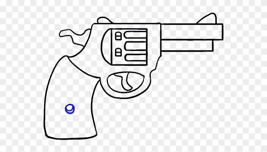 Cartoon gun easy drawing. Guns clipart banner