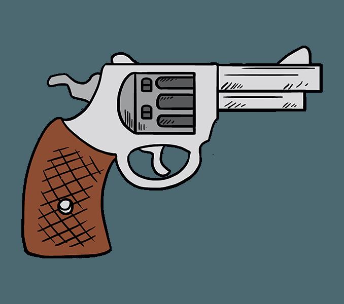 Pistol clipart baril. Cartoon gun free download
