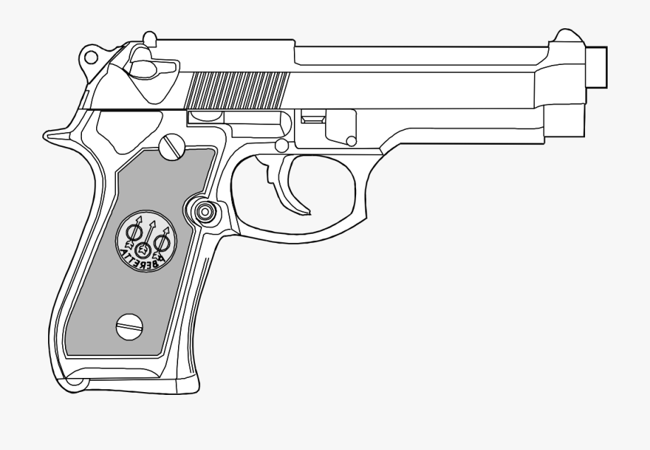 Pistol clipart pro gun. Stock two white png