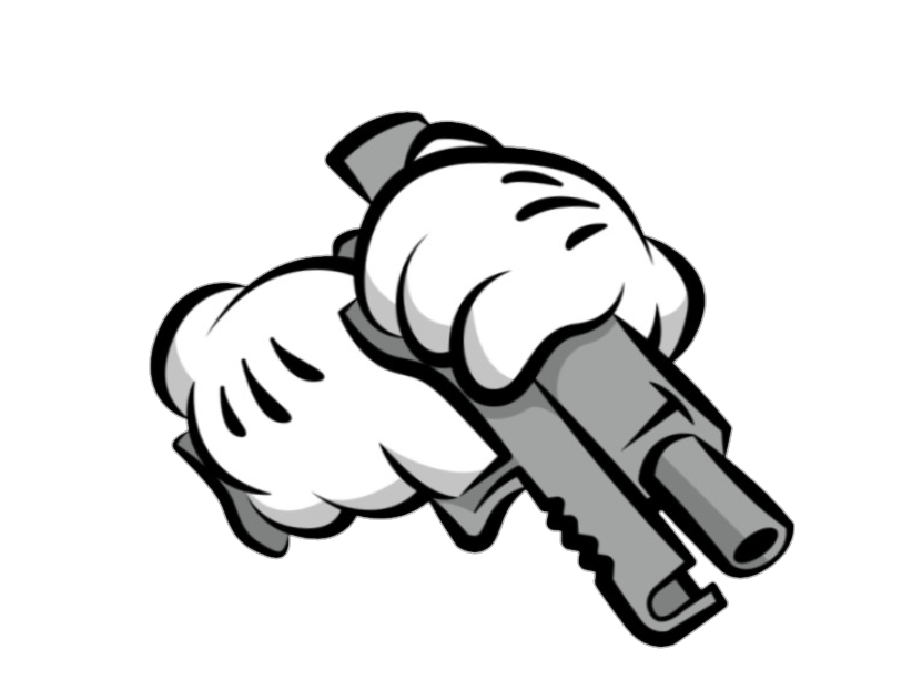 Mickey sticker by jessica. Guns clipart gangster