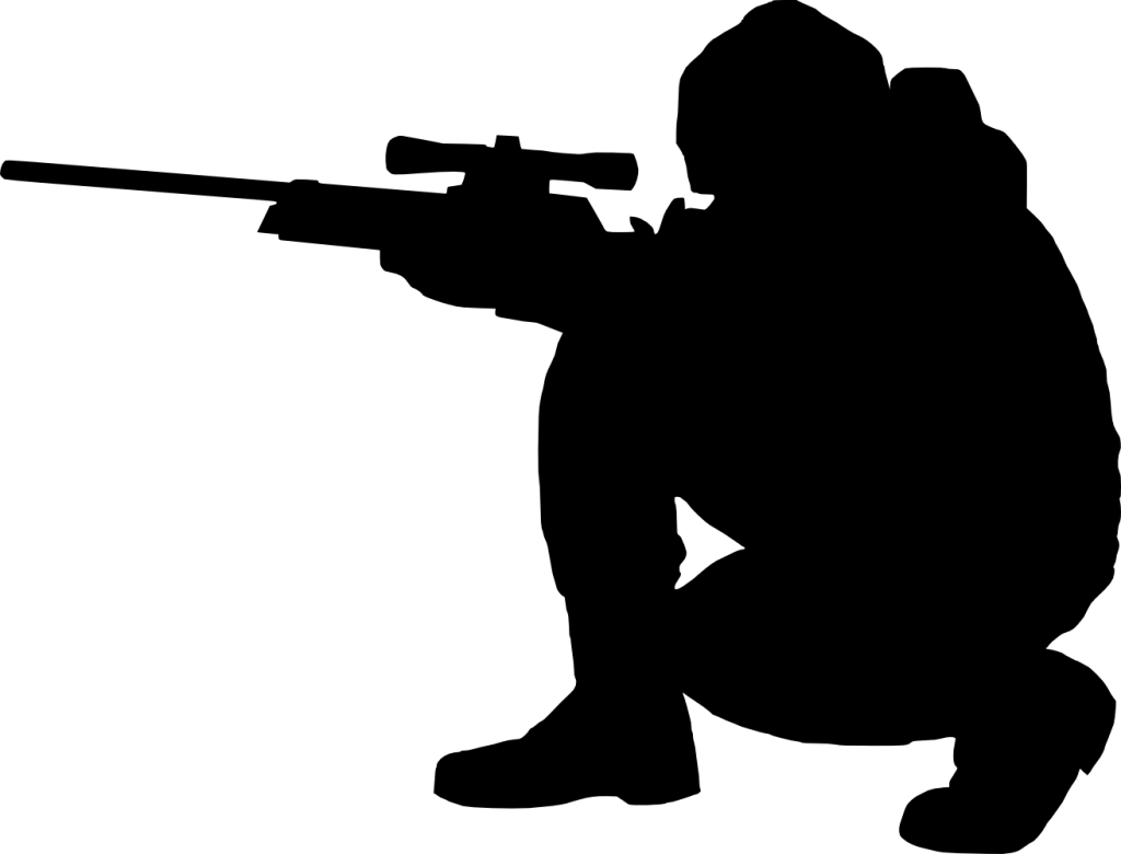 United states clipart silhouette. Army sniper school clip
