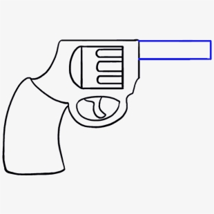 Shooting drawing easy cartoon. Guns clipart simple