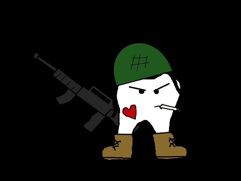 Tooth soldier home an. Guns clipart welder