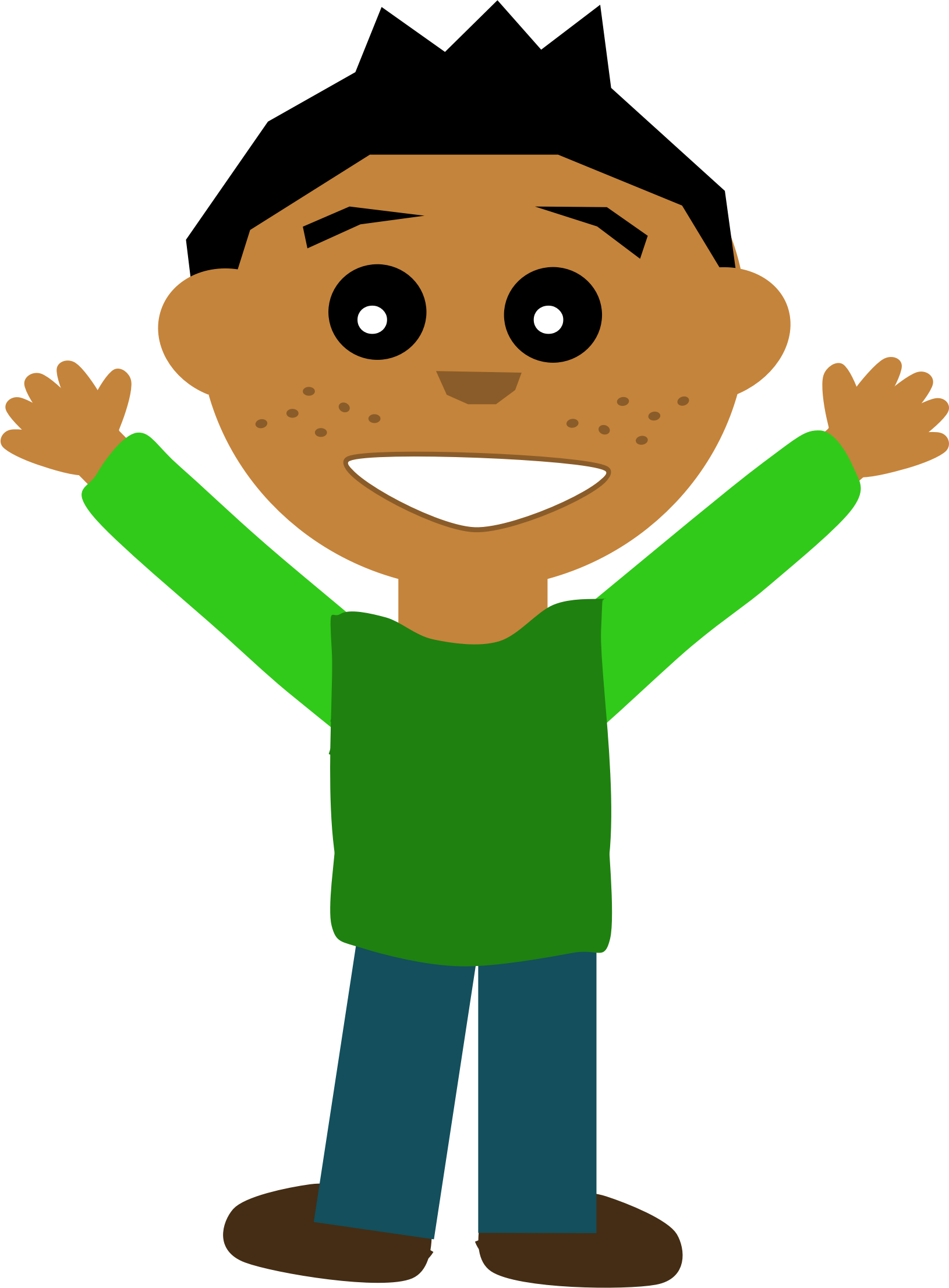 Volleyball clipart child. Happy guy big image