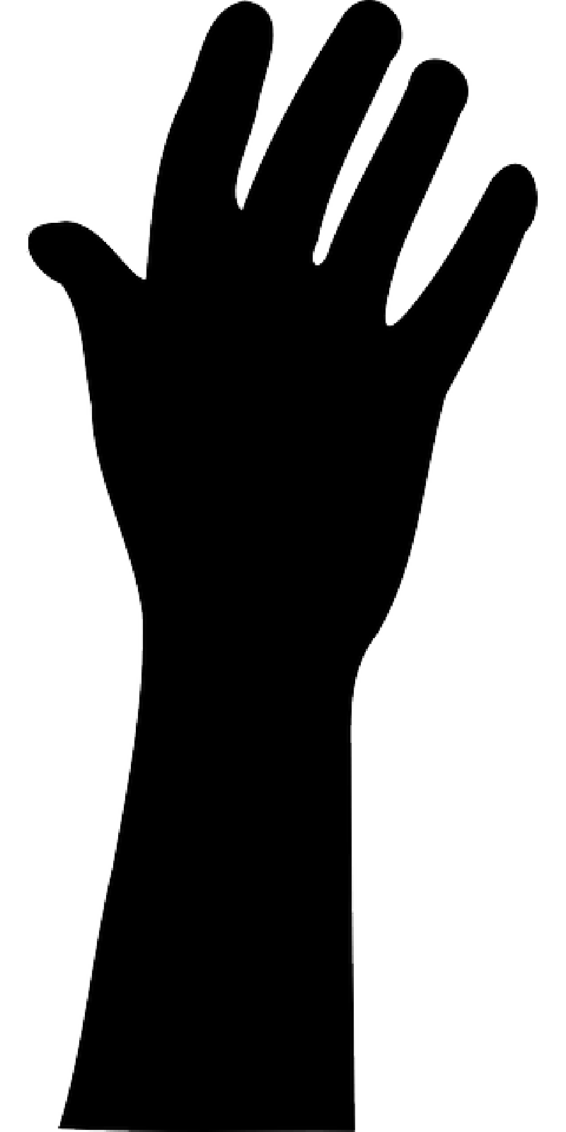 Silhouette at getdrawings com. Guy clipart arm raised
