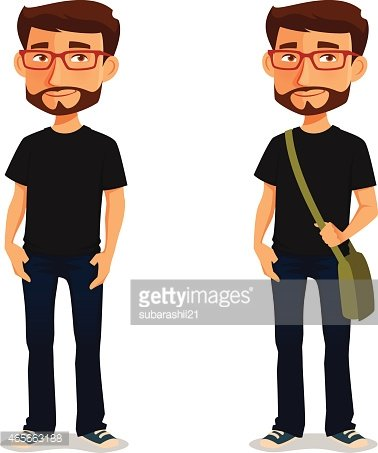 In casual clothes premium. Young clipart guy