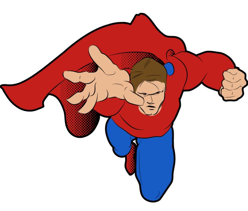 Super hero guy by. Superheroes clipart generic