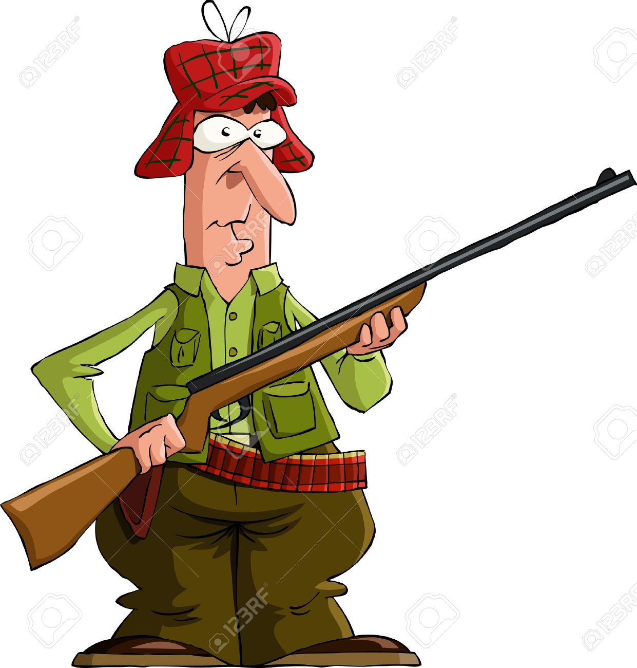 Hunting clipart man hunting. Hunter free download best