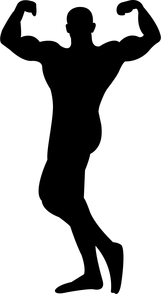Silhouette at getdrawings com. Muscles clipart flex muscle