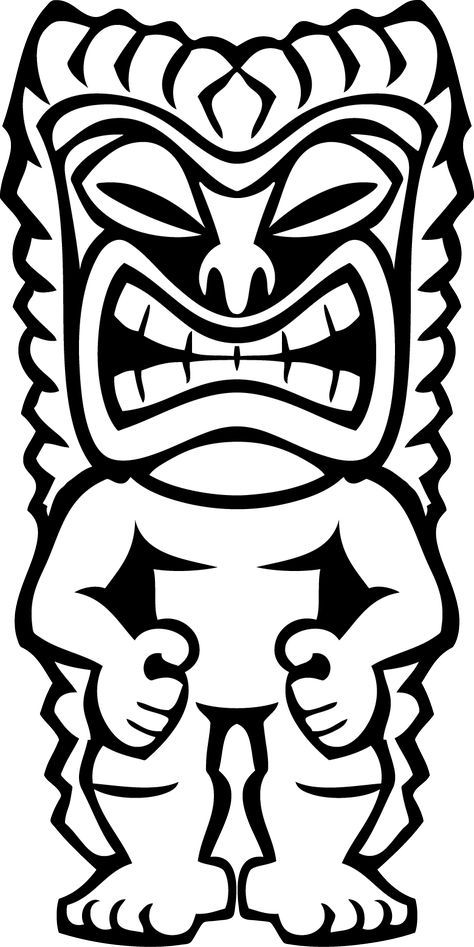 Hawaii clipart faces. Hawaiian tiki clip art