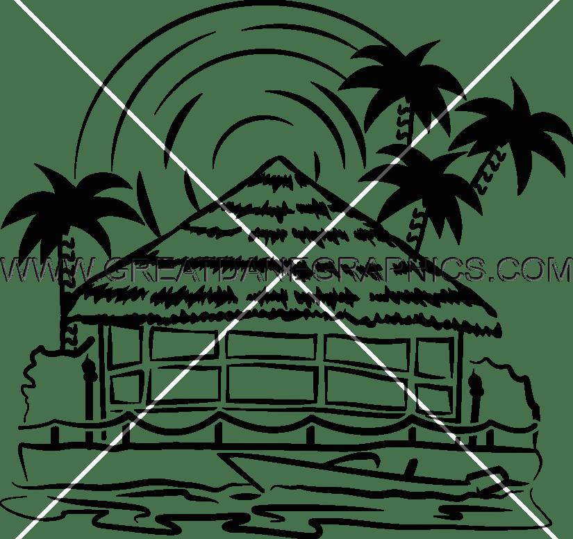 Drawing at getdrawings com. Hut clipart tiki hut