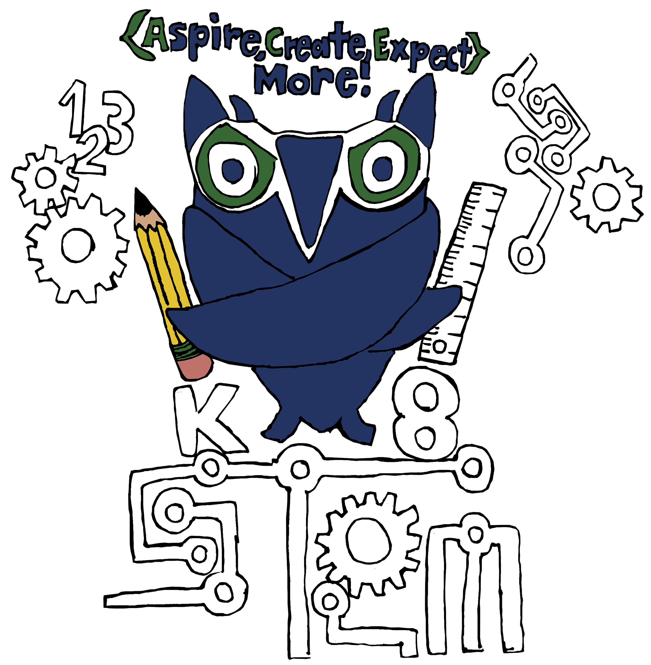 Yearbook clipart wacky clothes. Stem k pta aspire