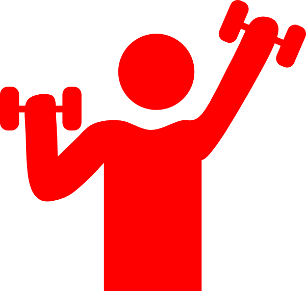 Red clip art at. Gym clipart