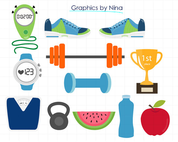 Instant download gym for. Fitness clipart