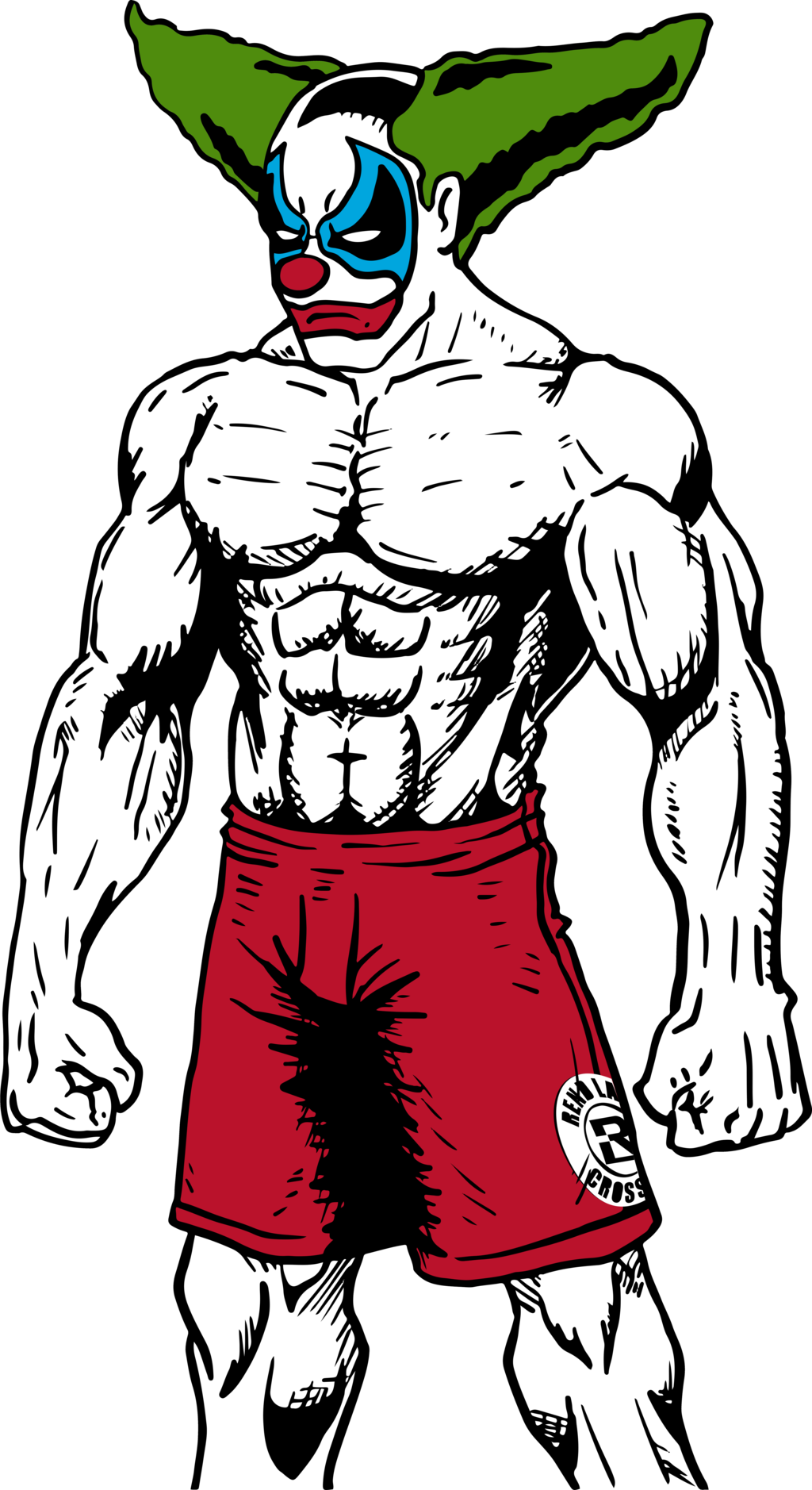 Gym clipart buff. Pukey the clown lookin