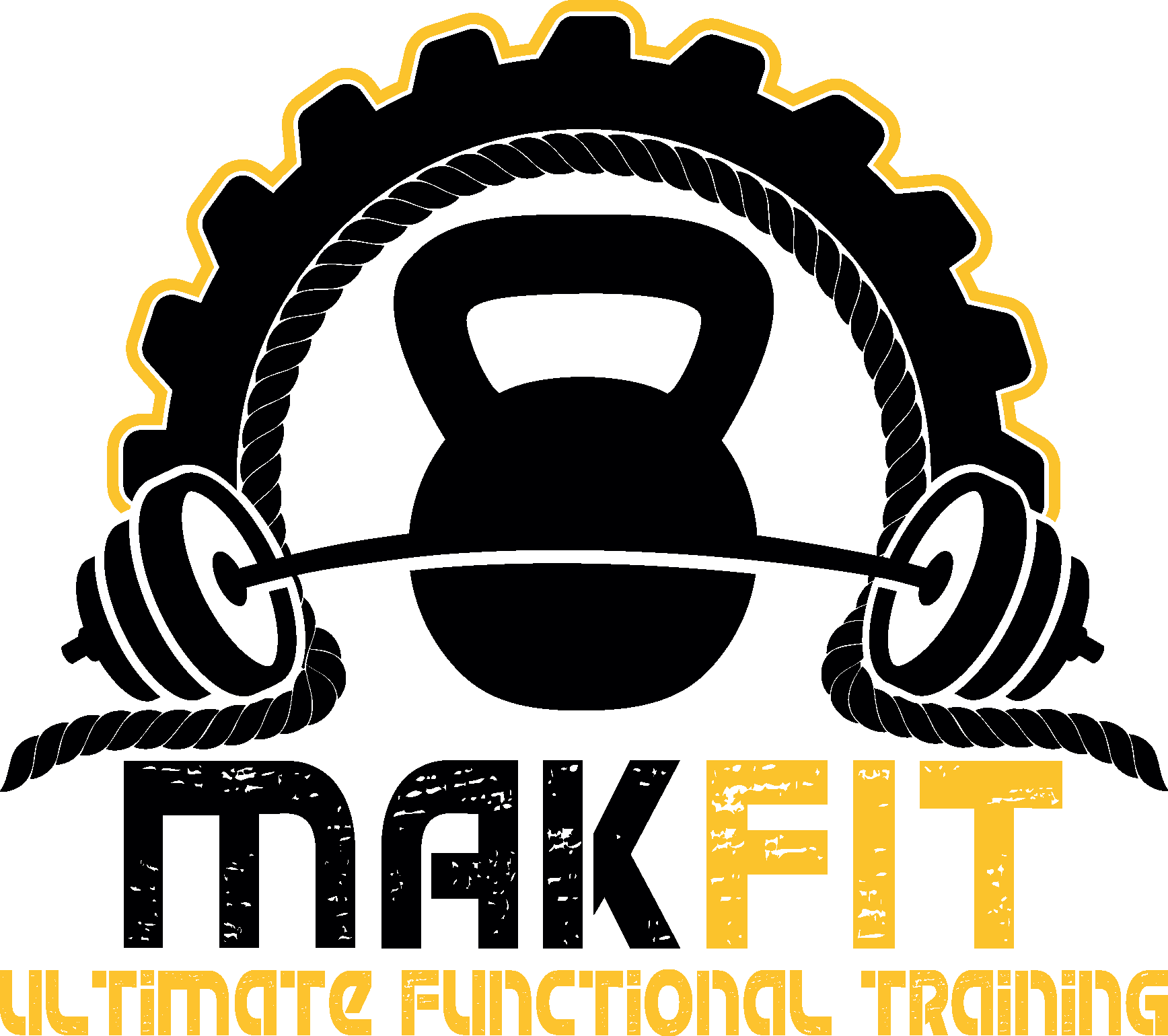 Gym clipart functional training. Makfit logo new gold