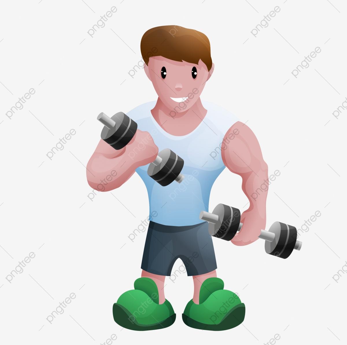 Gym clipart gym boy. Motion fitness equipment cartoon