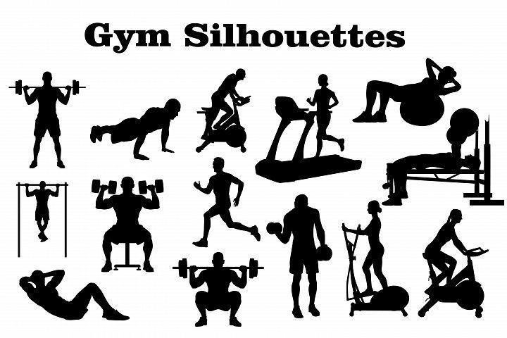 Silhouettes illustrations male . Gym clipart gym boy